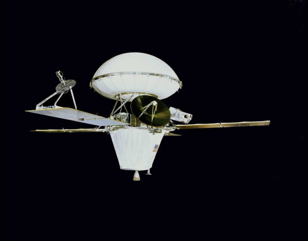 Viking 1 was the first of two spacecraft (along with Viking 2) sent to Mars as part of NASA's Viking program. Credit: NASA JPL.