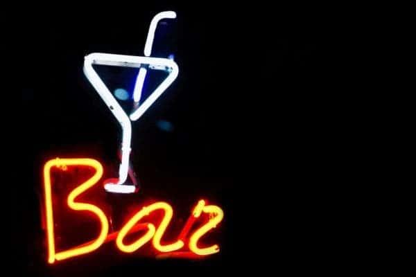 Bar neon sign.