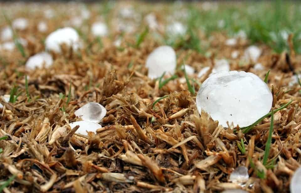 Hailstones.