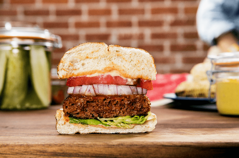 Not a real meat burger. Credit: Beyond Meat.