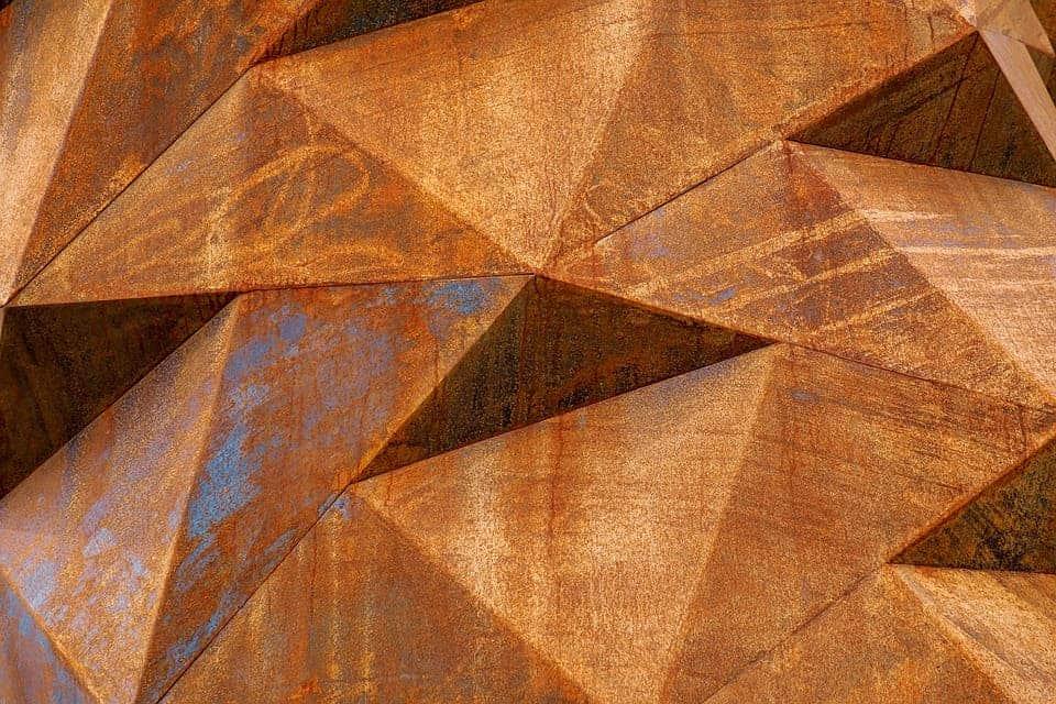 Rusted metal.