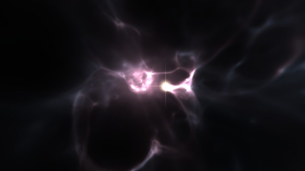 Artist impression of the formation of the very first stars. Credit: WISE, ABEL, KAEHLER.