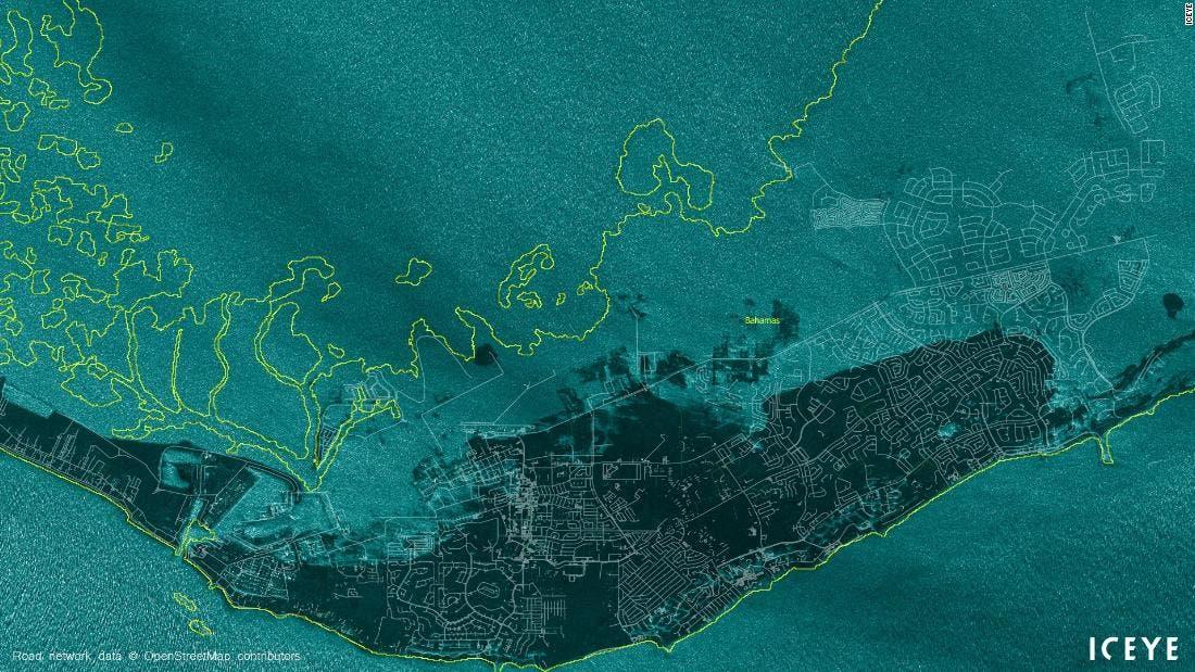 Bahamas island left 70% under water following Hurricane Dorian