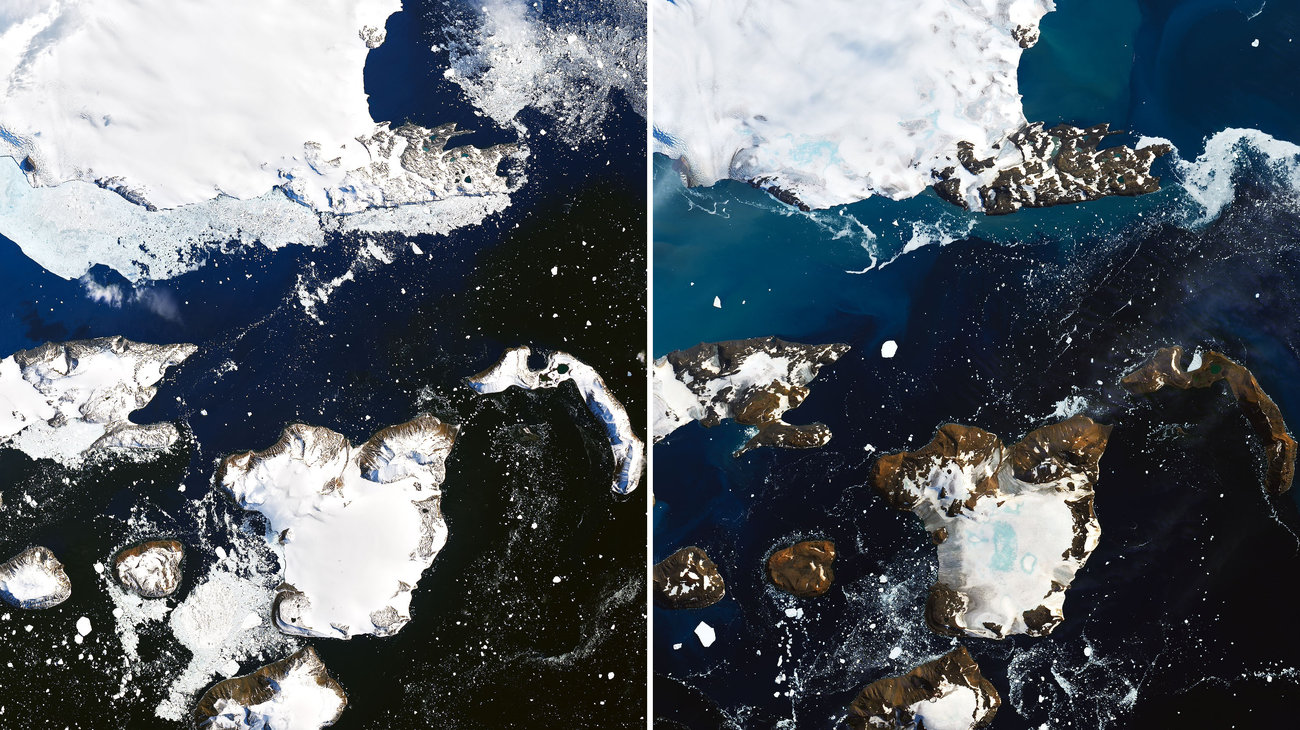 Antarctica is melting. NASA photos show consequence of record temperatures - ZME Science
