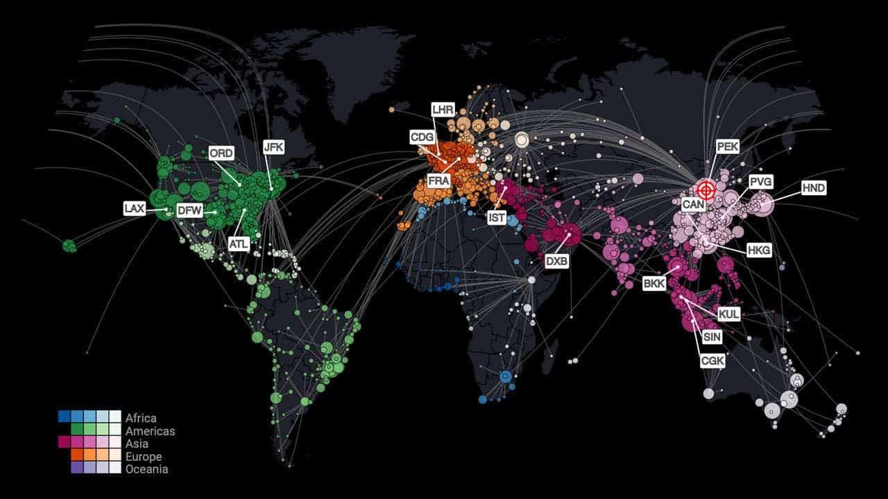this map predicts where coronavirus might strike next