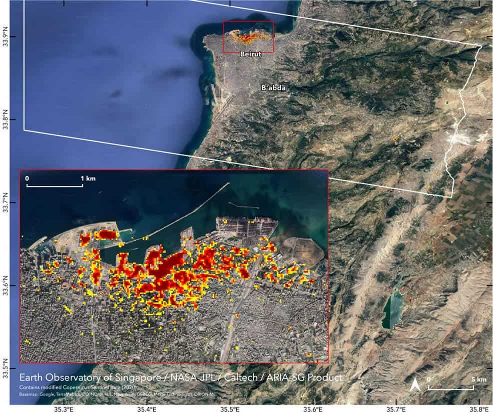 NASA maps the devastation of Beirut blast from outer space - ZME Science