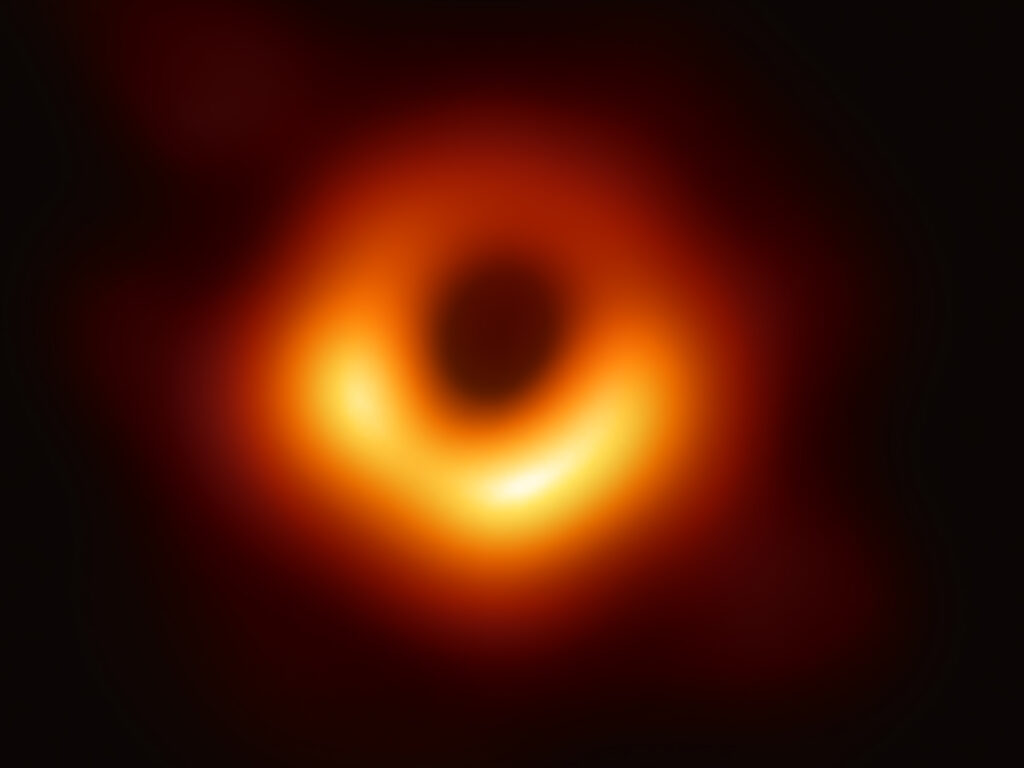 The first-ever image of a black hole was released 2019 came decades after Roger Penrose demonstrated such spacetime events are inevitable in the ungoverned collapse of a star with enough mass. (Event Horizon Telescope collaboration et al)