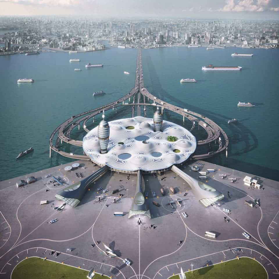 Japanese spaceport floating on an artificial island is a peek into the future
