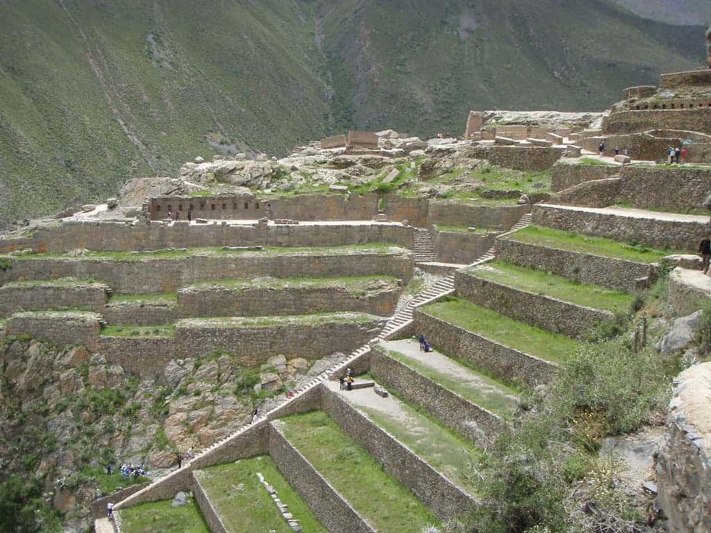 Inca terraces.