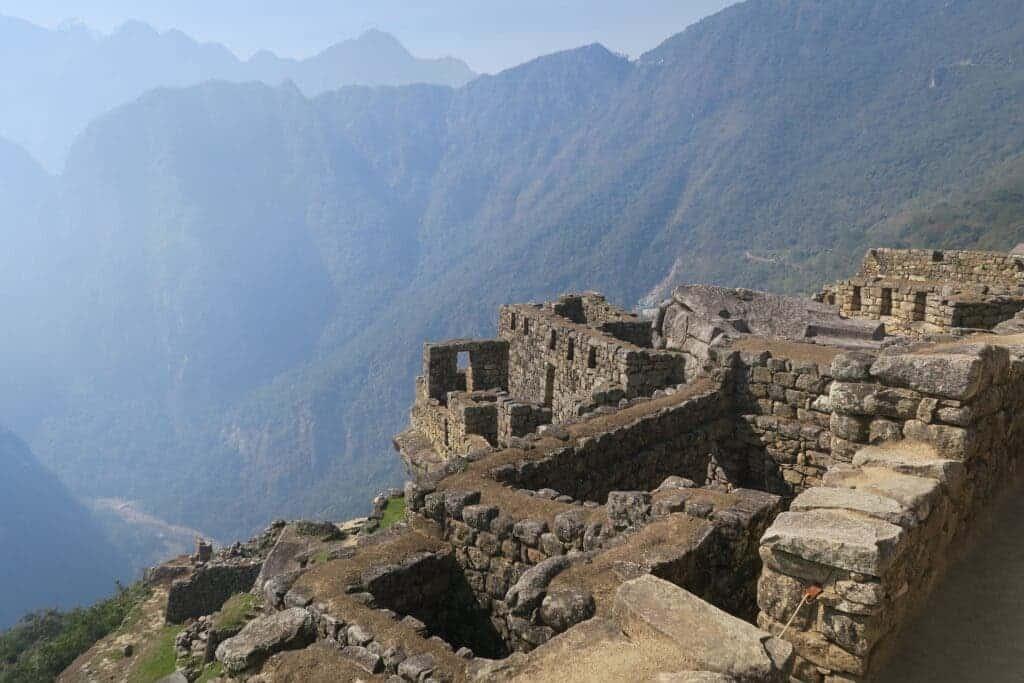 Inca ruins at Machu Picchu.